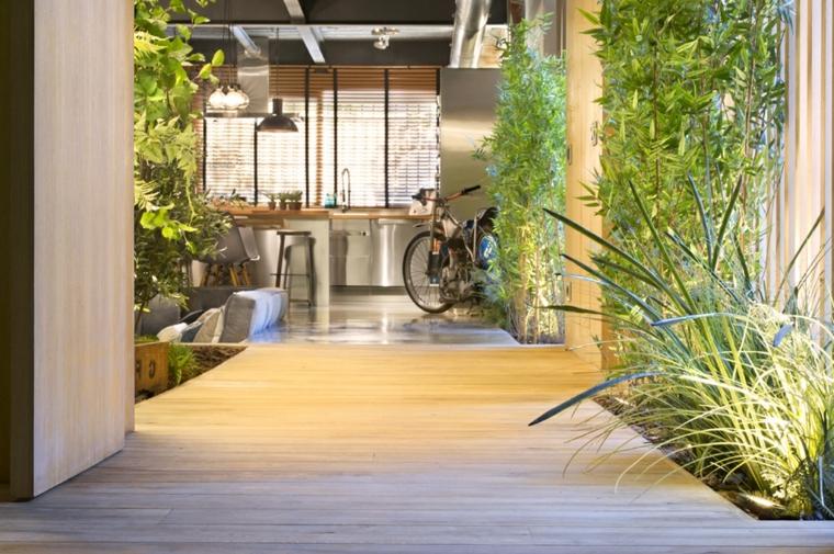 Oasis urbano en casa veinticinco ideas de paisajismo for Decoracion de casas con plantas de interior