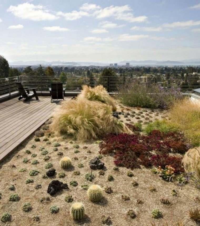 diseño paisaje moderno secano terraza
