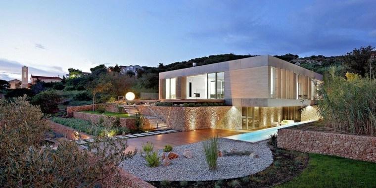 diseño paisajistico jardin grande piedras