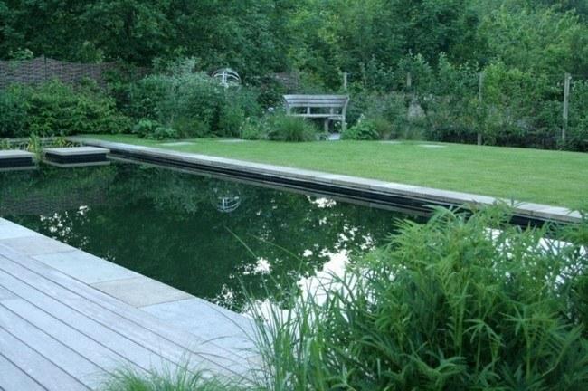 diseño piscinas jardin verde