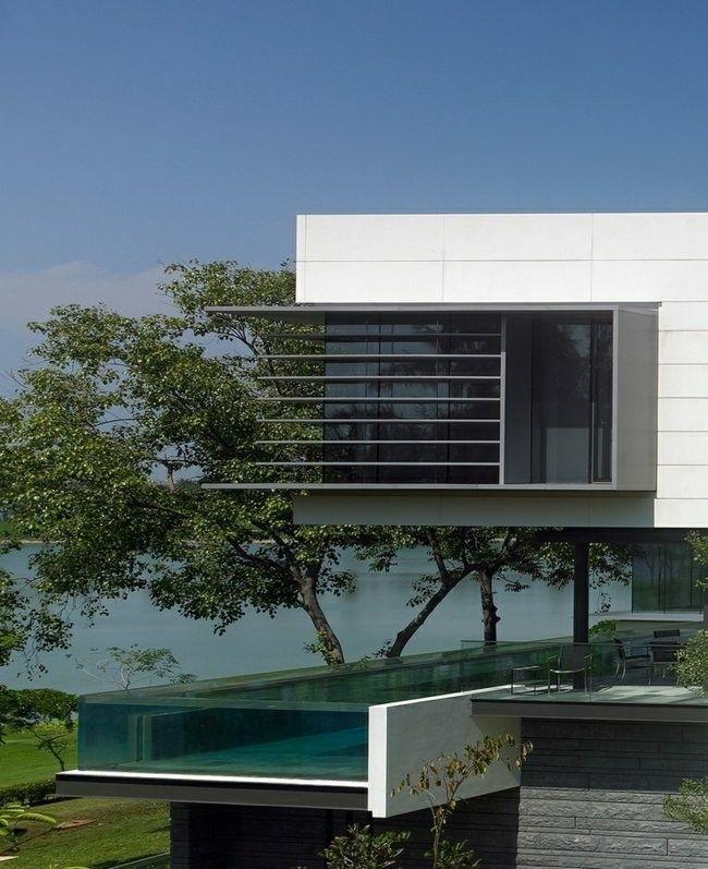 diseño piscina moderna cristal fibra