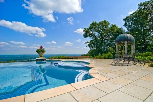diseño piscina clasica pergola cupula