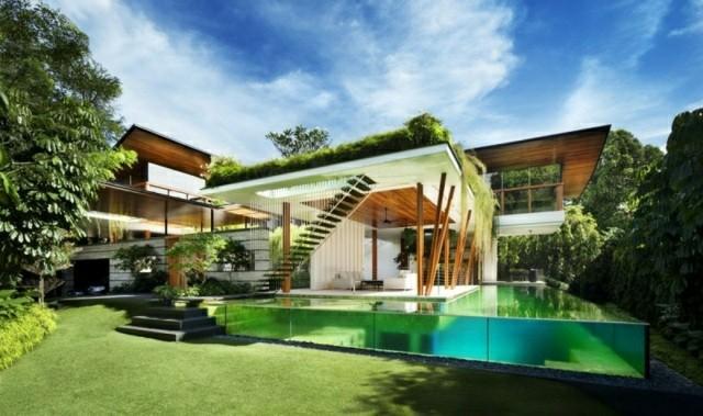 diseño piscina transparente fibra optica