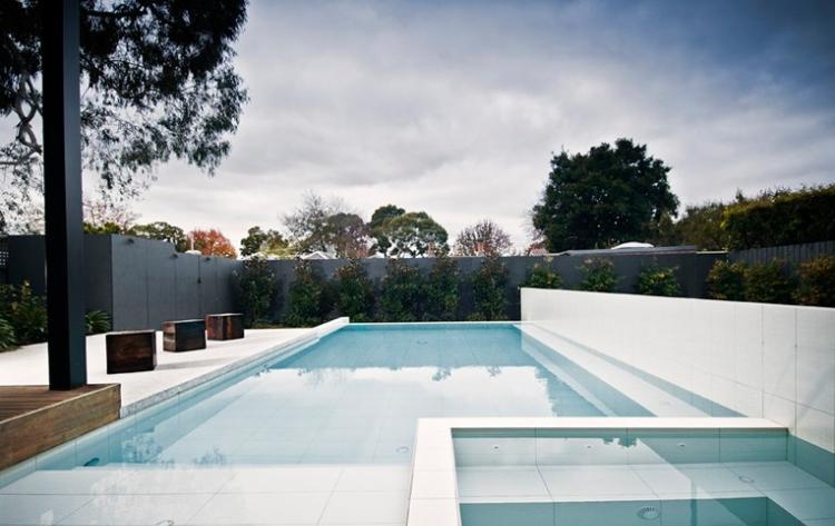 diseño piscinas modernas forma rectangular