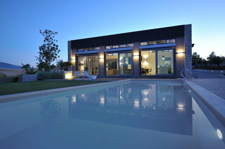 diseño piscinas grandes modernas jardin