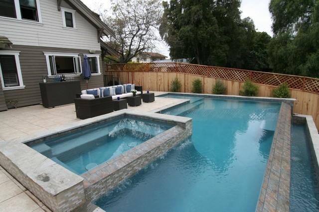 diseño piscina tres niveles