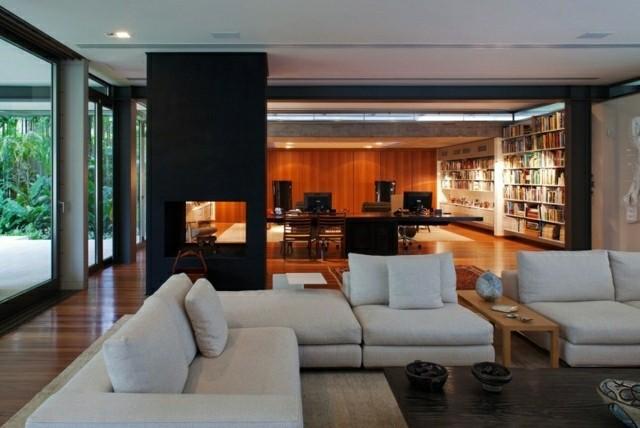 Casas modernas 50 ideas para decorar interiores - Columnas decoracion interiores ...