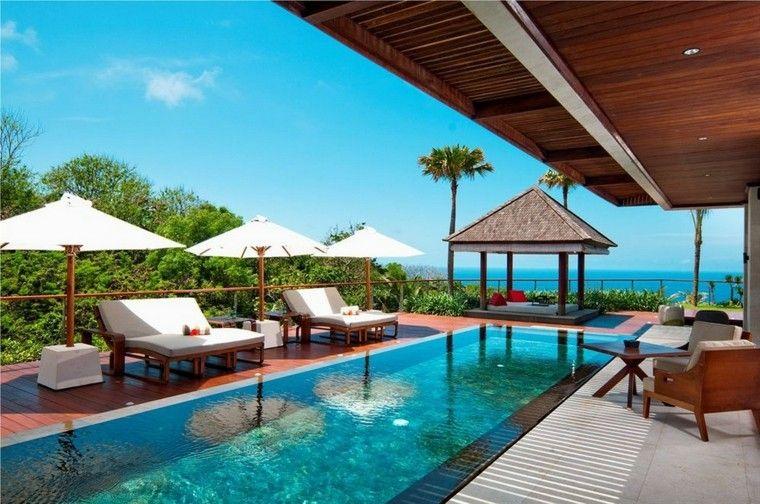 diseño terraza moderna estilo tropical