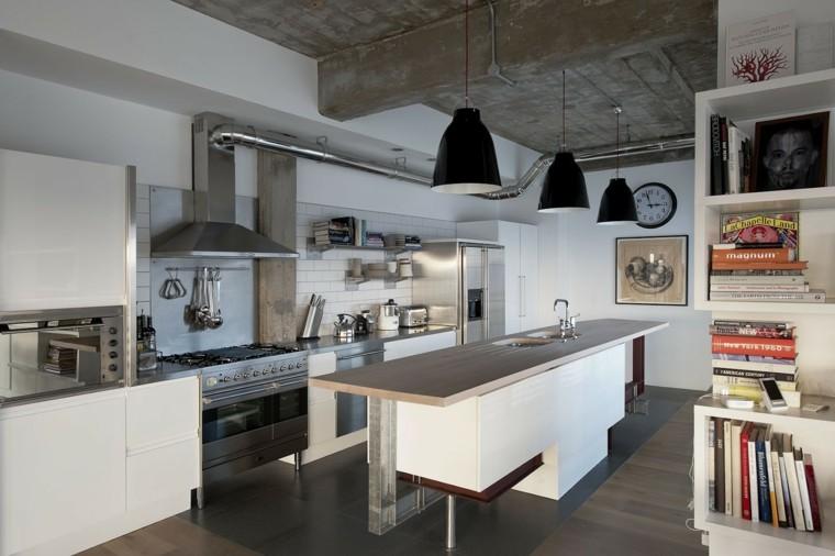 Dise o industrial cocinas modernas y originales for Idea deco para cocina gris