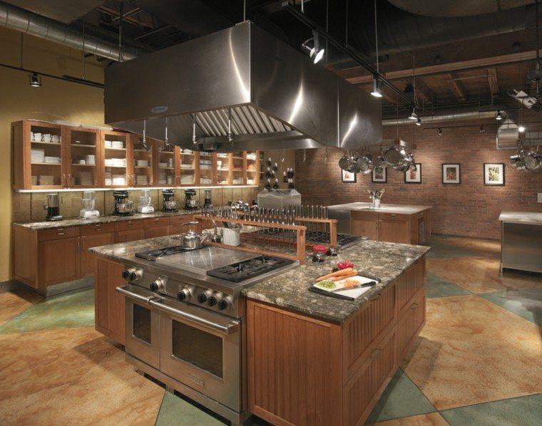 Dise o industrial cocinas modernas y originales - Professional home kitchen design ...
