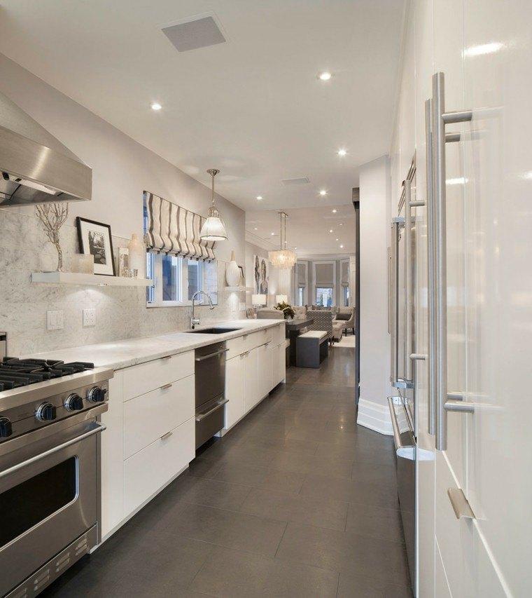 Dise o industrial cocinas modernas y originales for Cocinas largas y estrechas