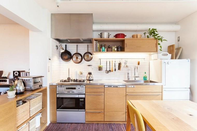 diseno oriental toques estilo industrial cocina ideas