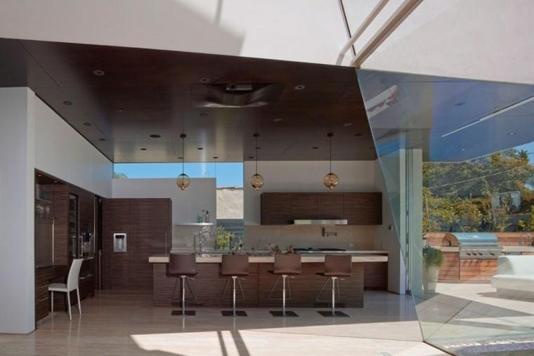 distribucion arquitectura muebles cocina pared