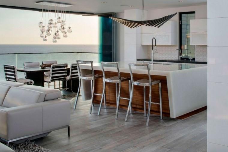 distribucion mobiliario bar lampara sofa