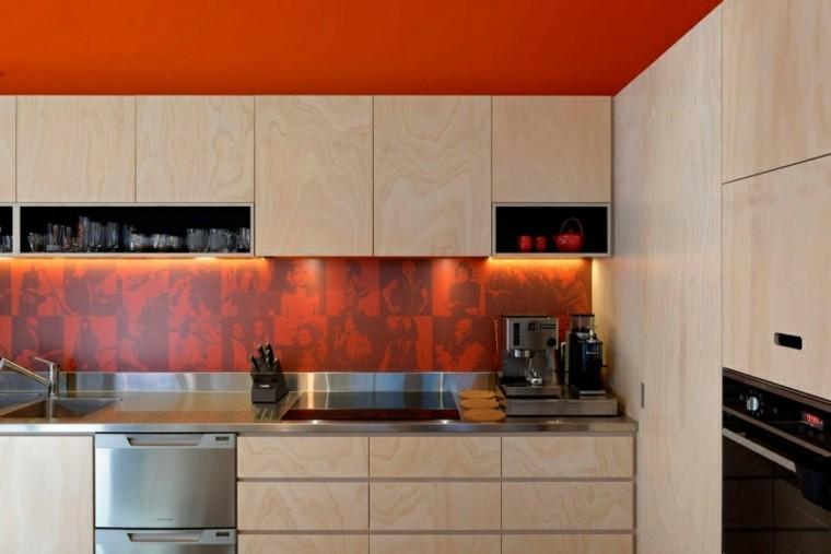 distribucion moderno colorido pared empotrado