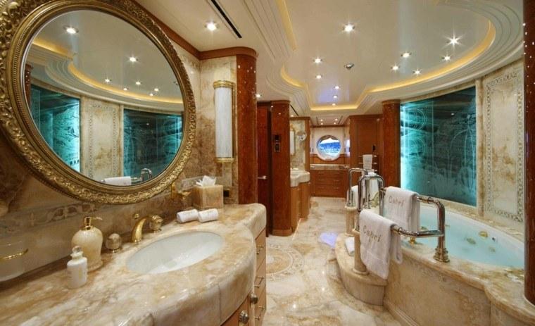 Ba o dise o de lujo detalles para hacerlos funcionales for Espejo dorado bano