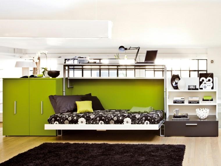 dormitorio adsolescentes armario verde moderno ideas
