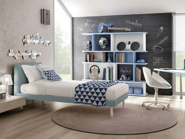 dormitorios modernos y divertidos para los adolescentes. Black Bedroom Furniture Sets. Home Design Ideas