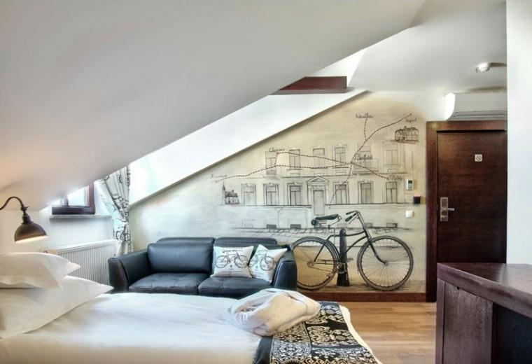 dormitorio-chico-pared-dibujos-interesantes
