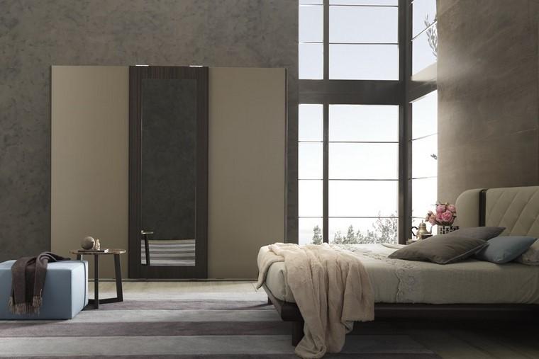 dormitorio estilo minimalista taburete mesa ideas