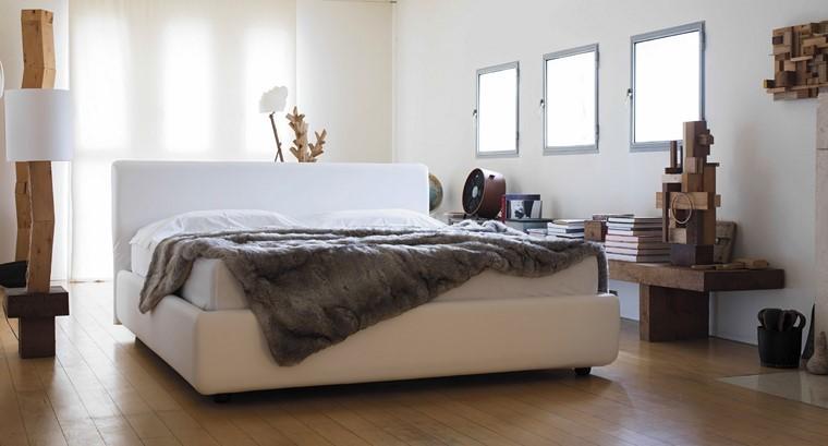 dormitorio lampara banco madera estilo rustico ideas