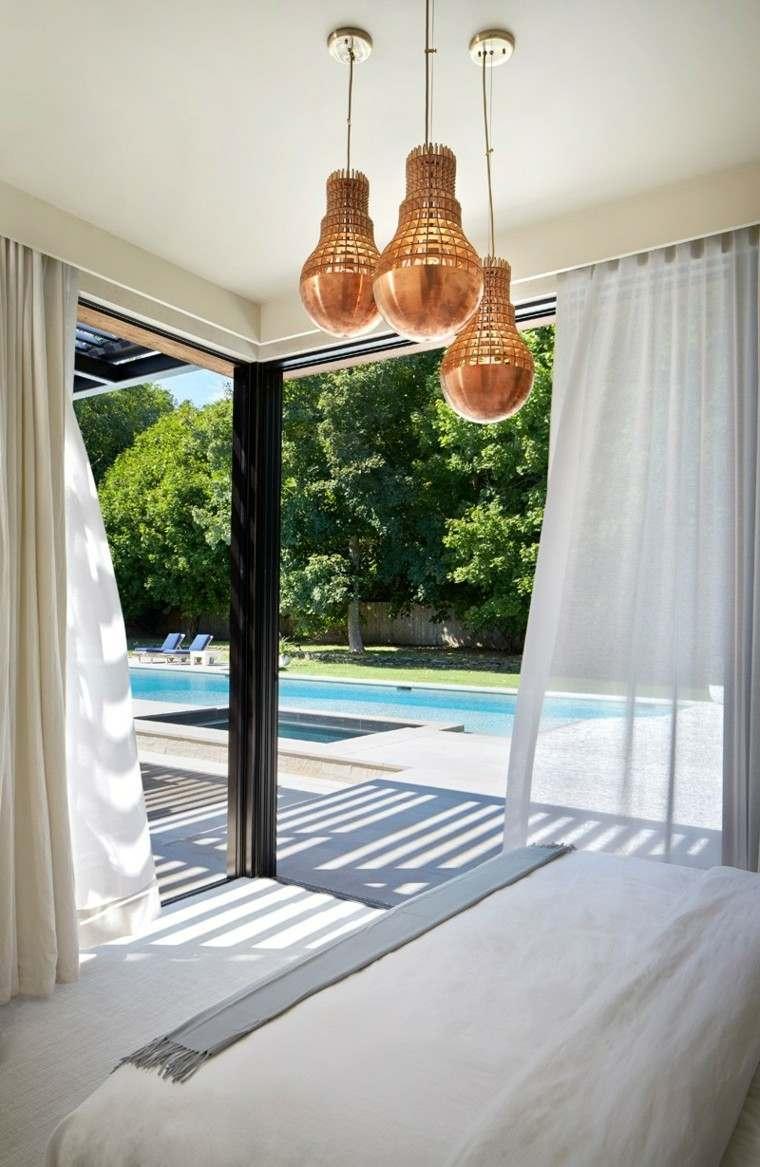 dormitorio lampara preciosa casa moderna ideas