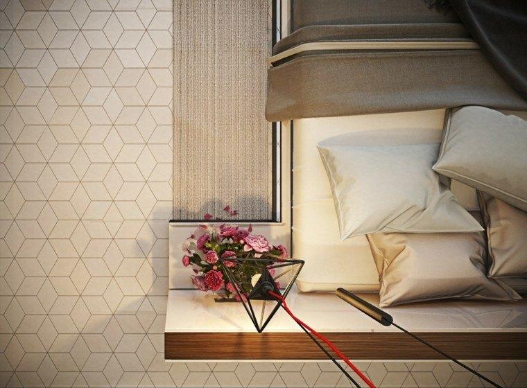 dormitorio diseño moderno colores beiges