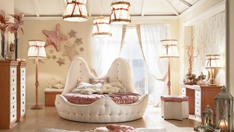 dormitorio ninos estrellas decorativas pared cama ideas
