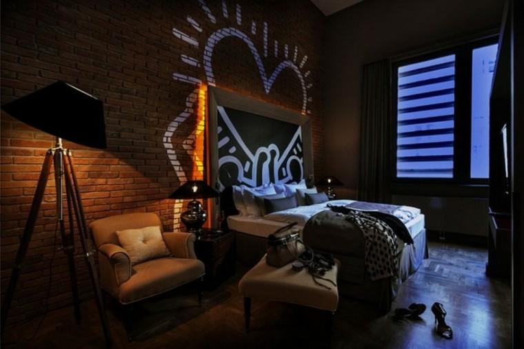 dormitorio pared dibujo romantico bonito ideas