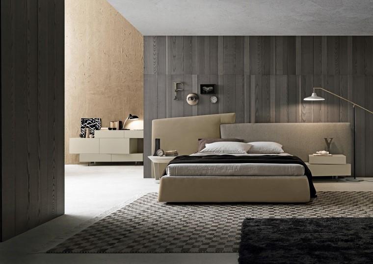 dormitorio paredes oscuras decoraciones respaldo precioso ideas