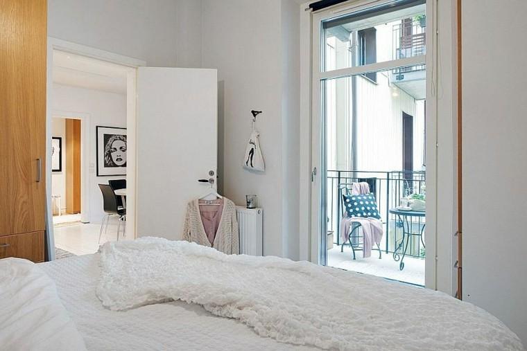 dormitorio pequeno elegante apartamento escandinavo ideas