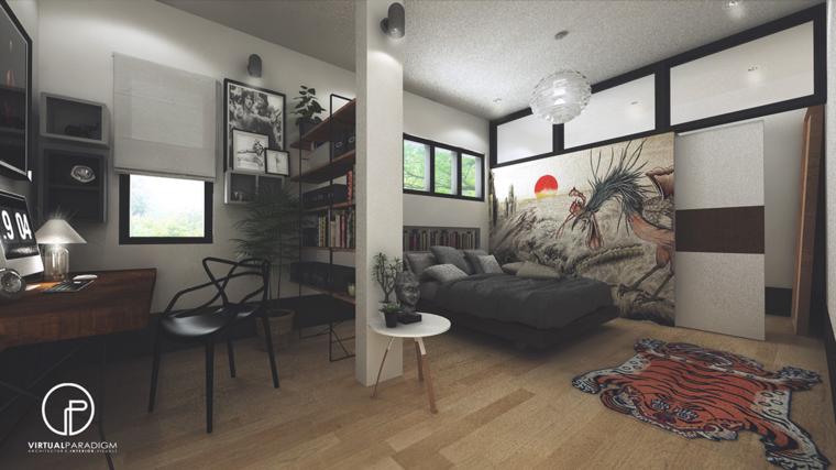 dormitorio sueños color gris moderno