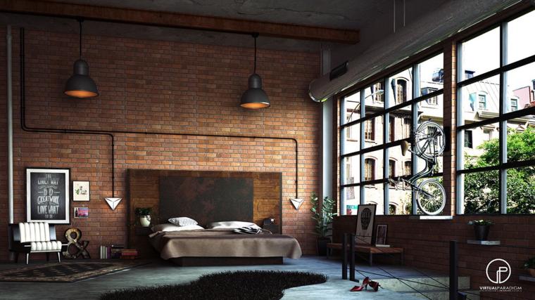 dormitorio sueños pared ladrillo visto