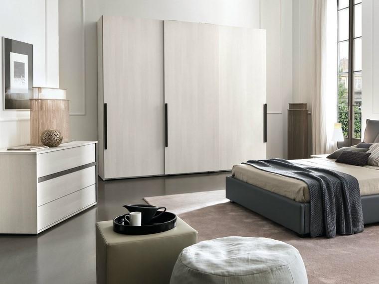 dormitorio taburetes armario grande blanco ideas