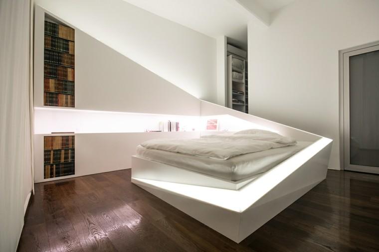 dormitorios de matrimonio color blanco