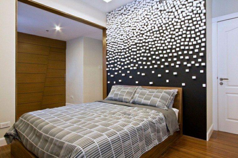 dormitorios diseño creativo pared decorada