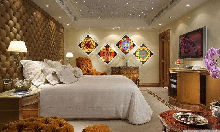 dormitorios diseño lujo calido luminarias
