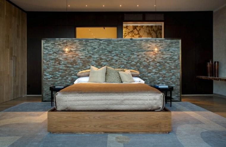 dormitorios diseño muro mural llamativo