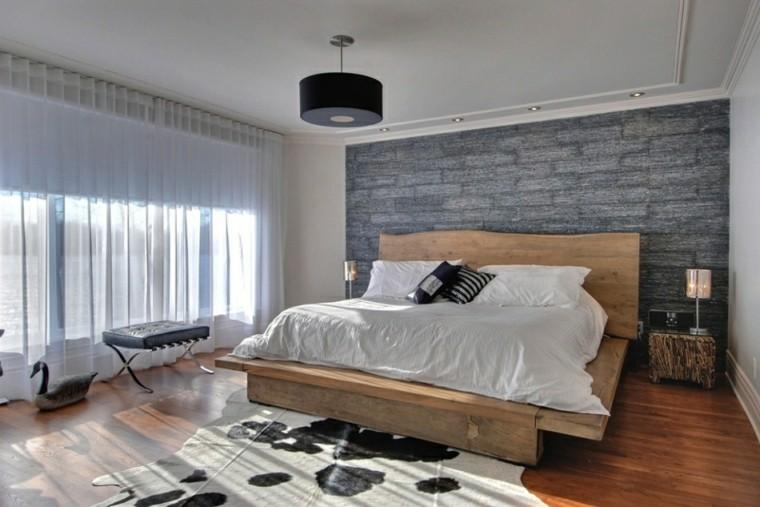 dormitorios diseño pared decoracion rocas