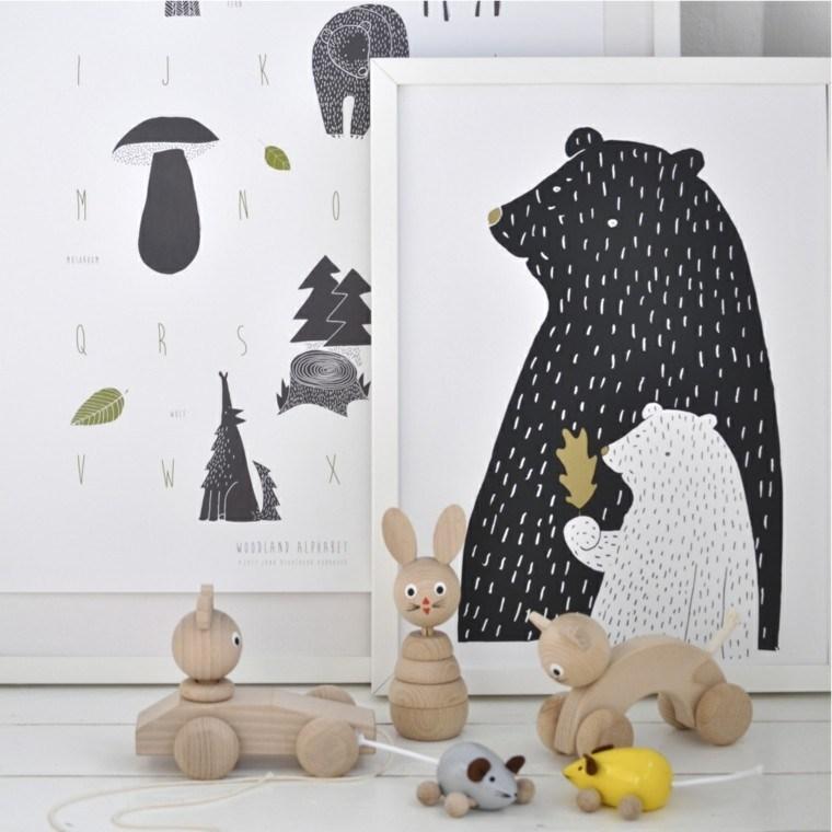 dormitorios infantiles diseño cuadros figuras decorativas