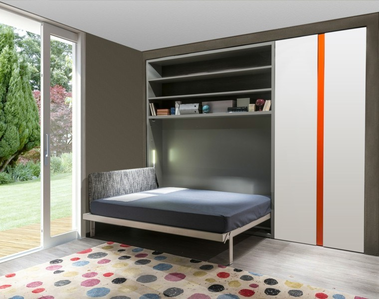 dormitorios modernos alfombra colores luminoso ideas
