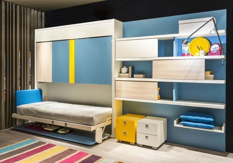 dormitorios modernos camas cierran colores vibrantes ideas