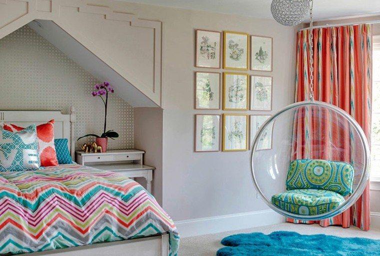 dormitorios modernos ropa cama colores vibrantes ideas
