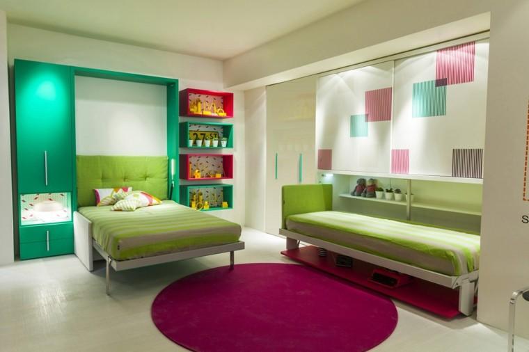 dormitorios modernos verde paredes muebles ideas