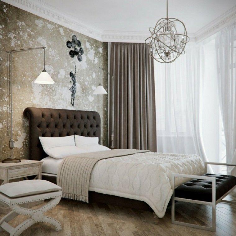 dormitorios sillon blanco pared lampara