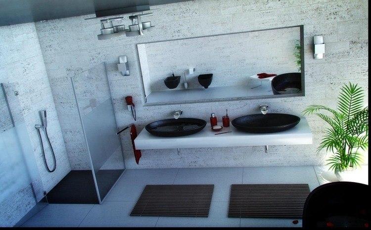 dos lavabos redondos negros modernos