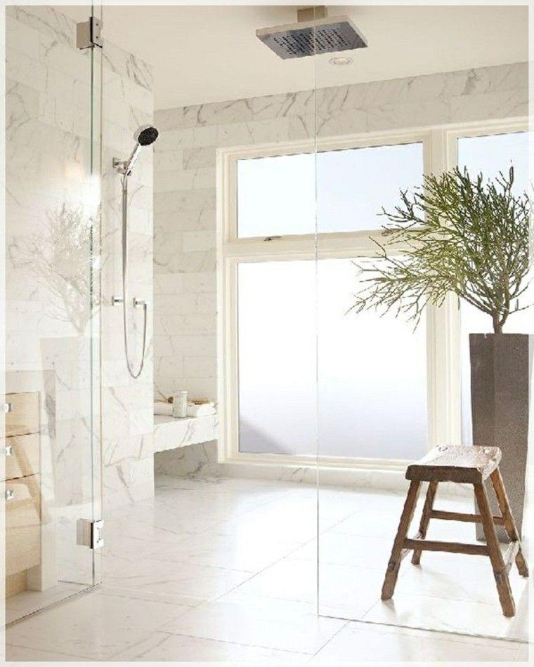 cabina ducha moderna azulejos marmol