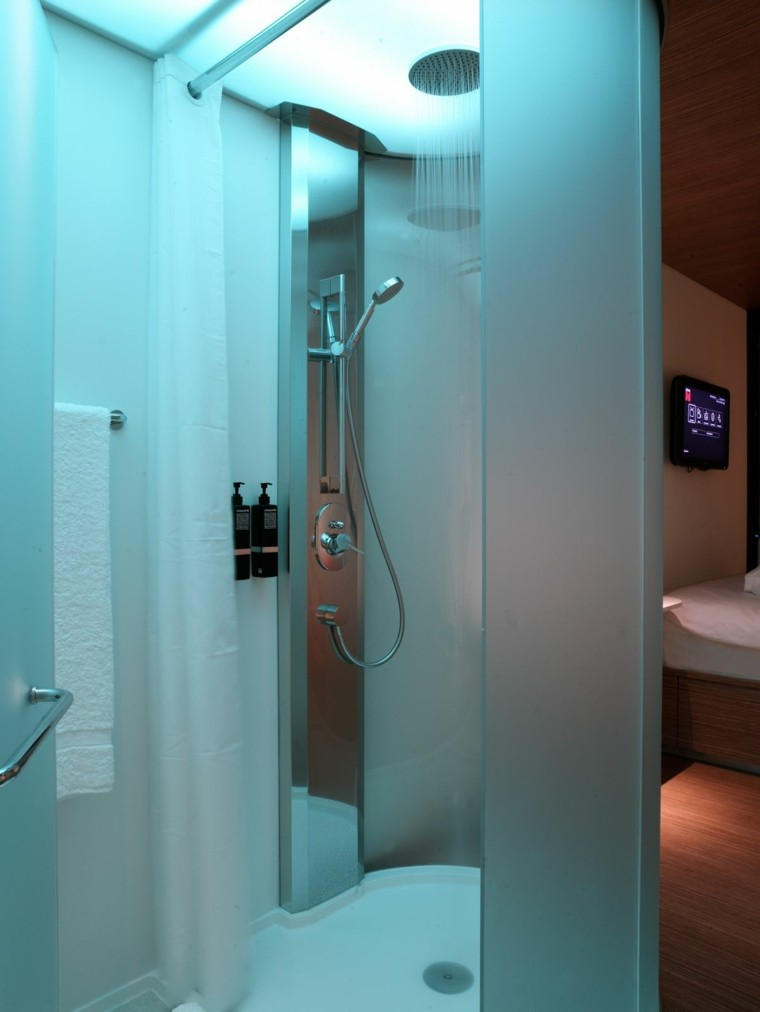 diseño ducha moderna luces led