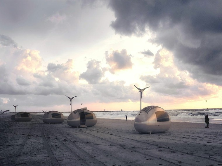 eco capsula playa cerca mar ideas