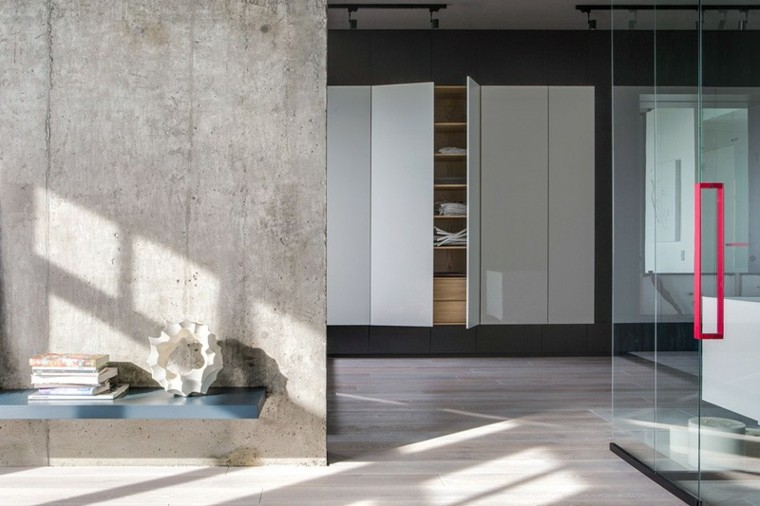 efecto puertas transparentes closet mueble
